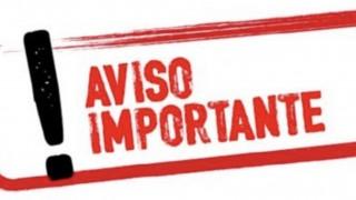 AVISO IMPORTANTE 13122018